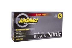 Blk Jobselect Glovenitrile P/F Small Black 10/100, 103-212